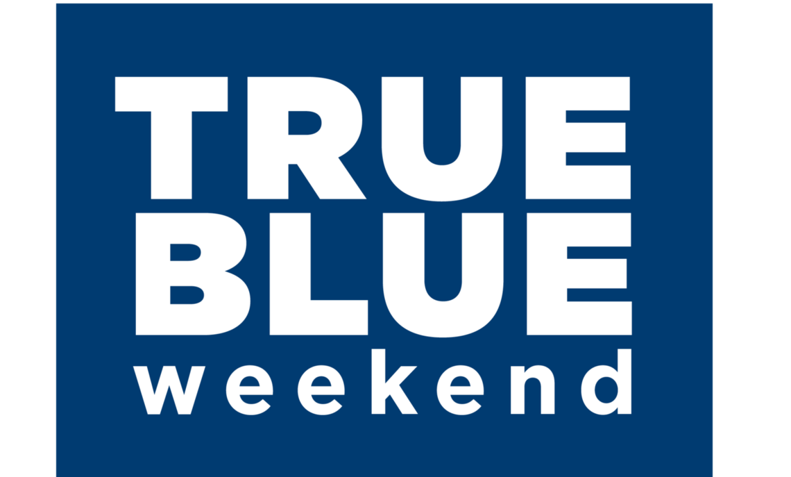 TRUE BLUE Weekend updated web graphic