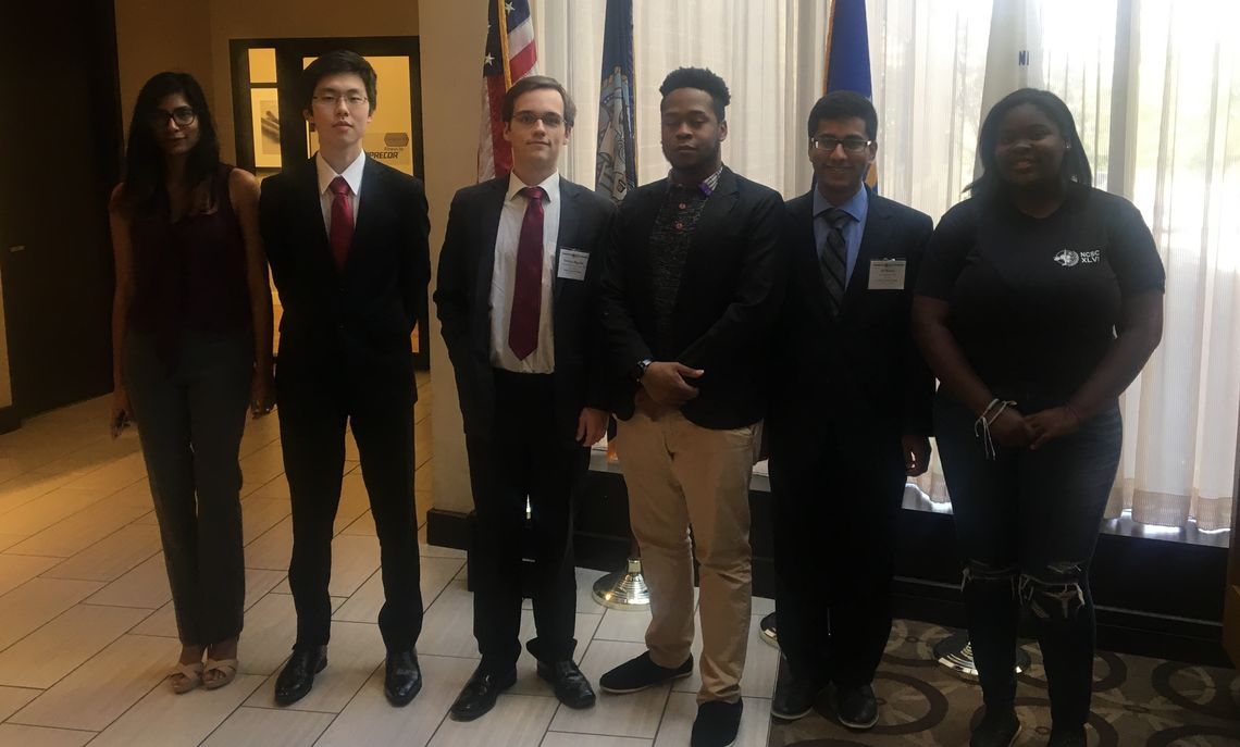 Second photo of F&M MUN members attending a conference in Washington D.C.
