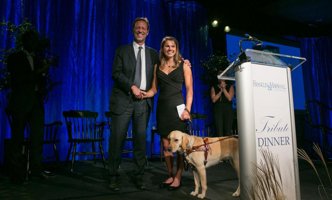 President Porterfield and Becca Meyers 2016 Tribute Dinner