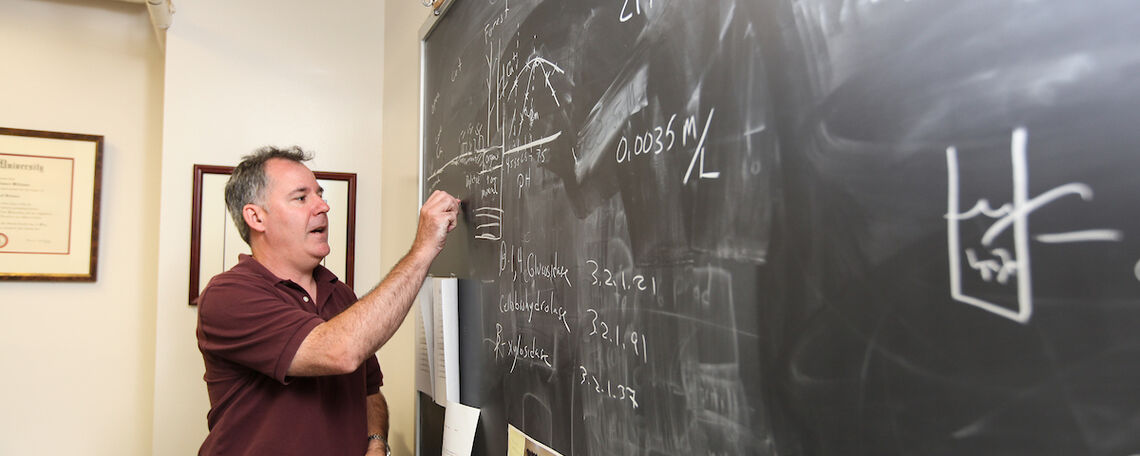 Associate professor of Environmental Science Chris Williams explains his research
