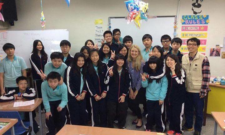 Aria Ogawa's class in Taiwan