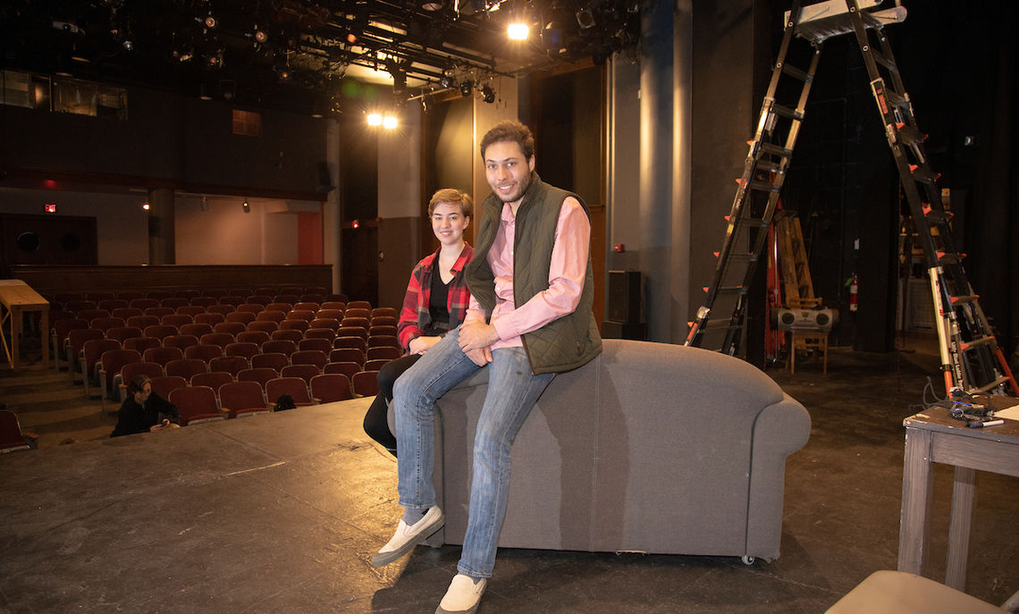 Assistant Director and Stage Manager Emma Covert and Director Seth Duncan, both senior theatre majors, worked with the playwright, Sheri Wilner, to better understand the motives of the characters.