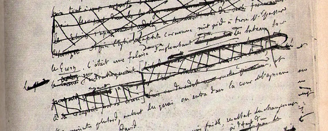 "Flaubert's heavily edited manuscript for ""A Simple Heart."""
