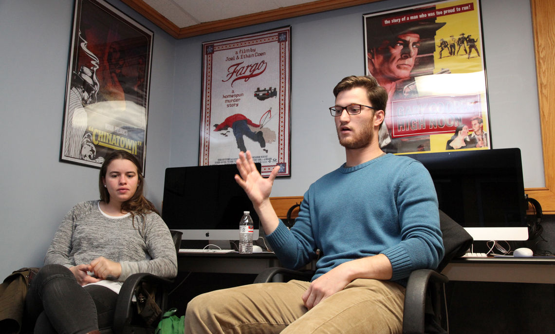 Seniors Tess Reinhold and Brian Billak have collaborated on a film project that parodies a number of soap operas.