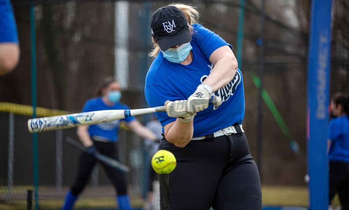 Spring 2021 softball practice