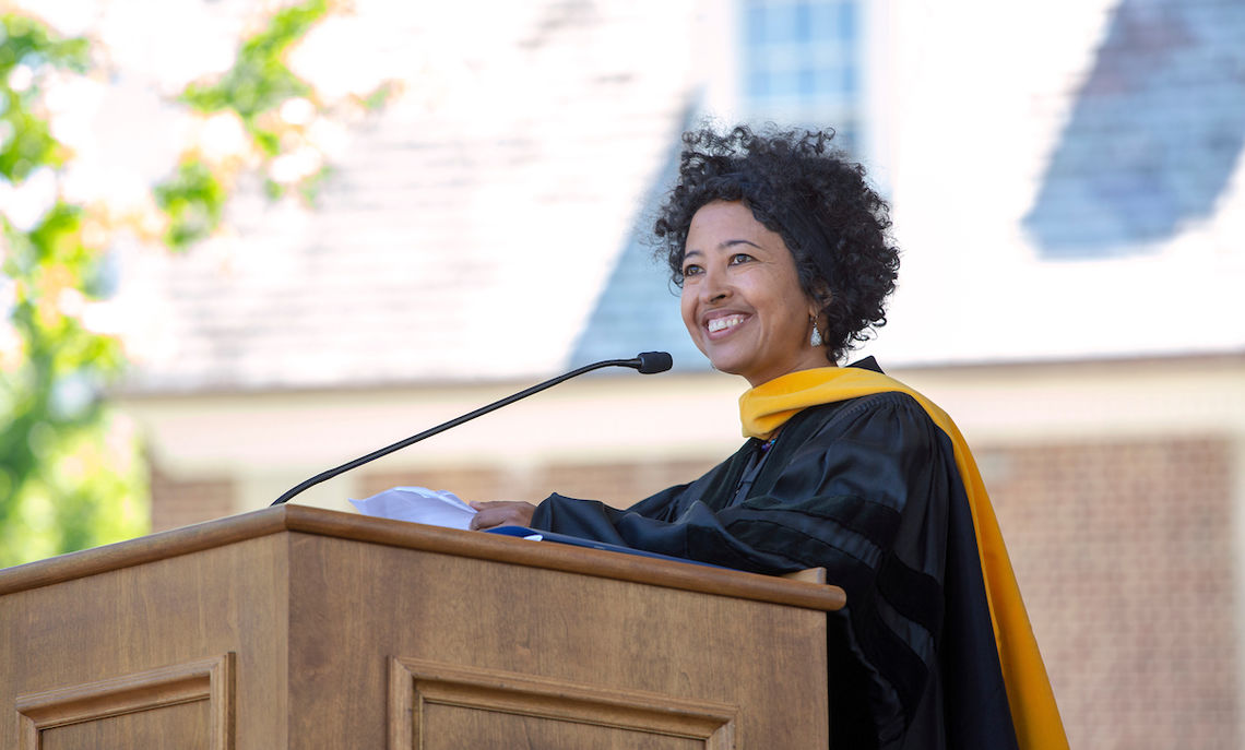 Dr. Rahel Nardos '97 shares some of her experiences as a student at F&M.