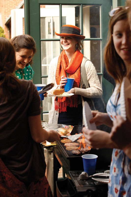 The Bye Bye Barbecue gives festival participants a chance to reminisce about the three-day celebration of writing.