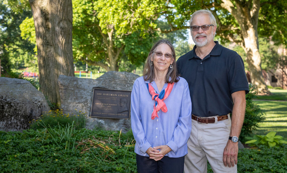 Professors Carol and Andrew de Wet were the first faculty couple at F&M, helping pave the way for other couples to teach at the College.