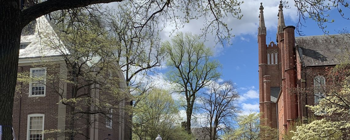 Campus at first spring bloom, 2019