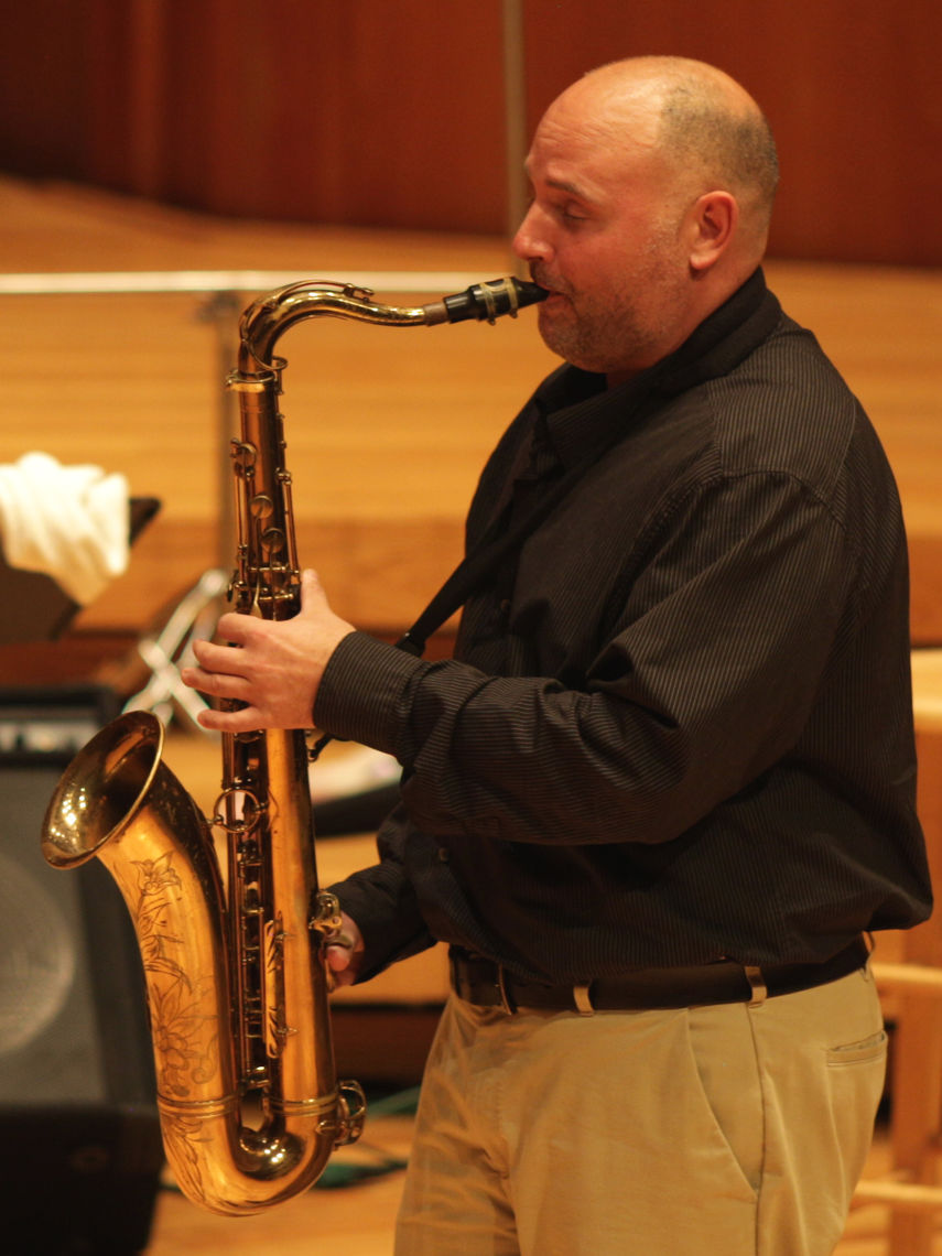 Jazz Ensemble conductor and saxophone instructor Jerry Laboranti performs at the Faculty Recital September 2017