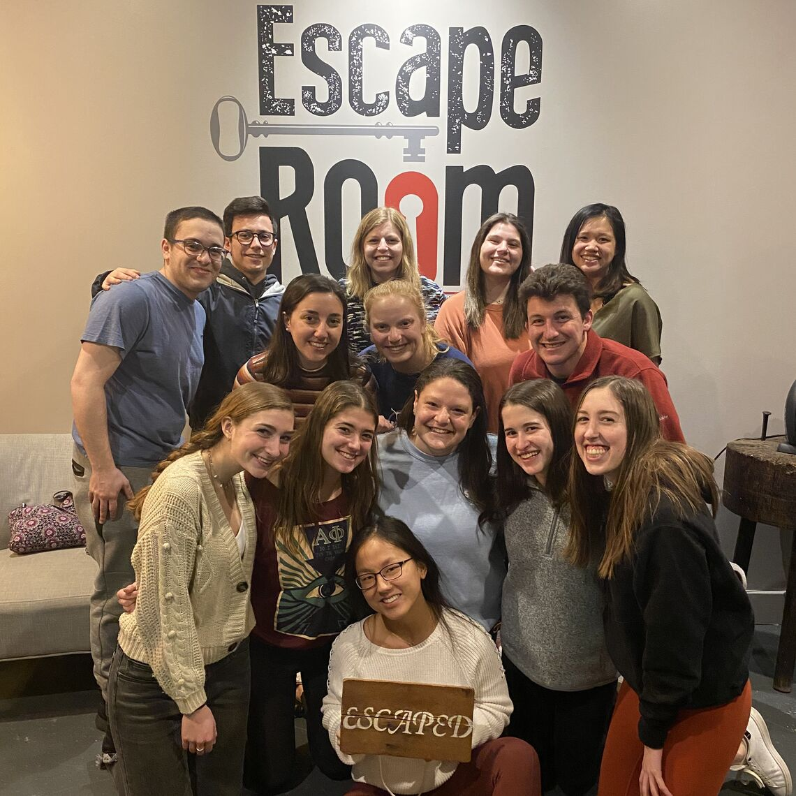 Molly Sproul '21 at Escape Room