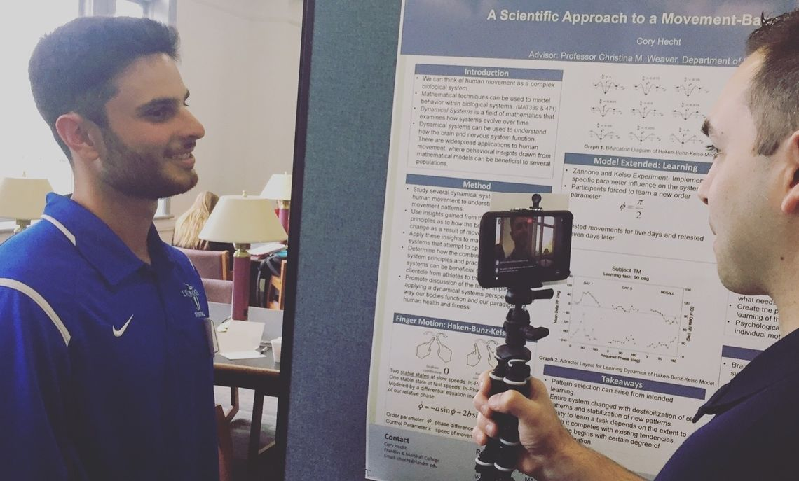 Cory Hecht '17 presented his research with Prof. Christina Weaver through a poster session at F&M's Spring Research Fair.