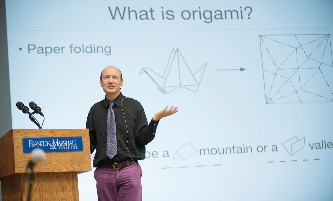 "Thomas Hull, the Western New England University professor of mathematics, is author of ""Project Origami: Activities for Exploring Mathematics."""
