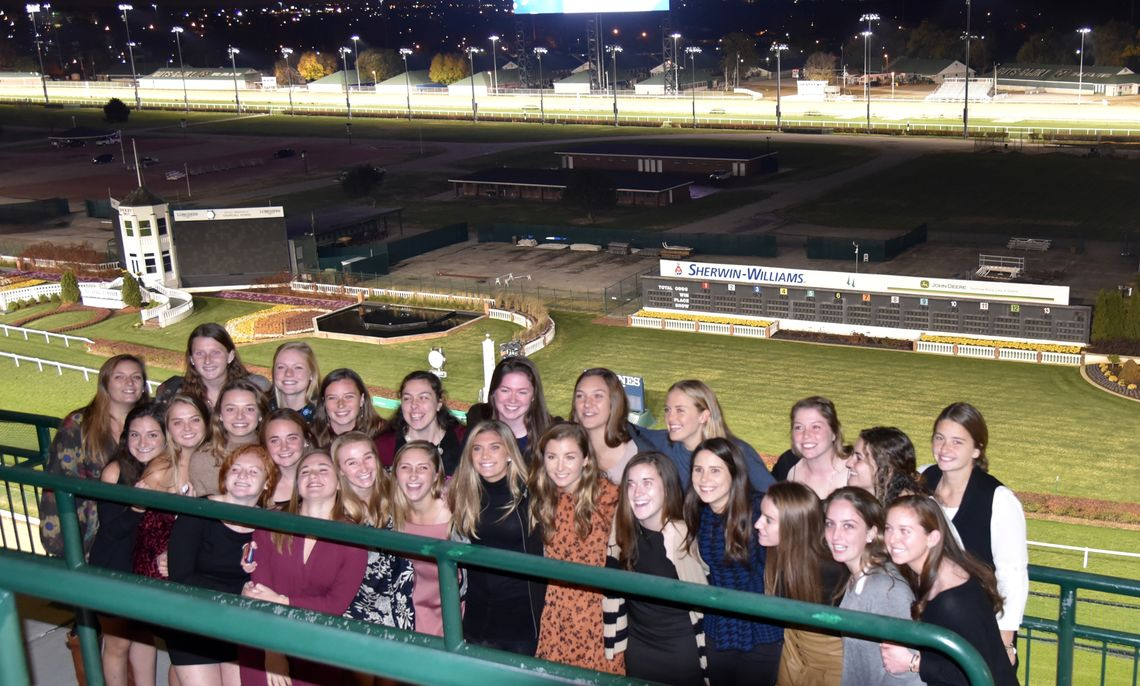 The 2017 F&M Field Hockey team at Churchill Downs in Louisville, Ky.