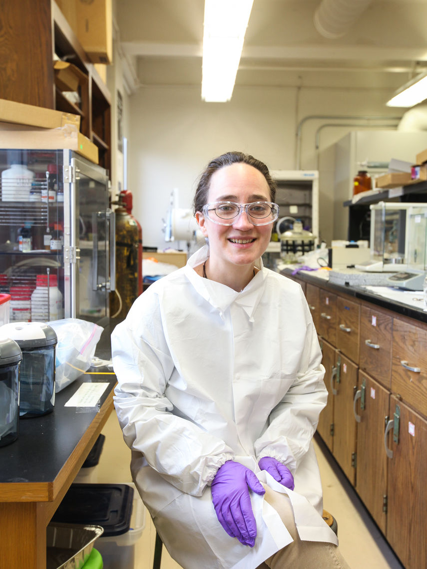 Associate Professor of Chemistry Kate Plass says the recognition of female chemists is important because women's interest in chemistry tends to peter out in the years between middle school and college.