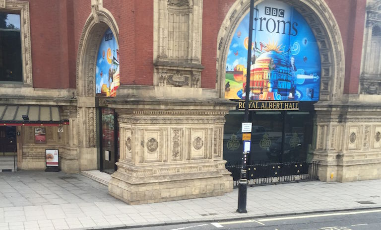 """""""I rode the bus every morning to class from my flat in West Kensington, and would pass the Royal Albert Hall, opened by Queen Victoria in 1871,"""" Fitzgerald says."""