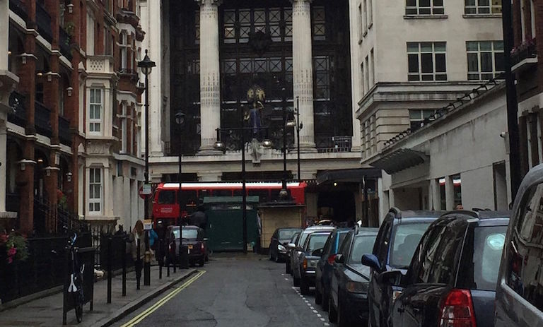 The dance studios where Fitzgerald studied were in front of the famous grand clock at Selfridges, the  high-end department store that opened in 1909 on London's Oxford Street.