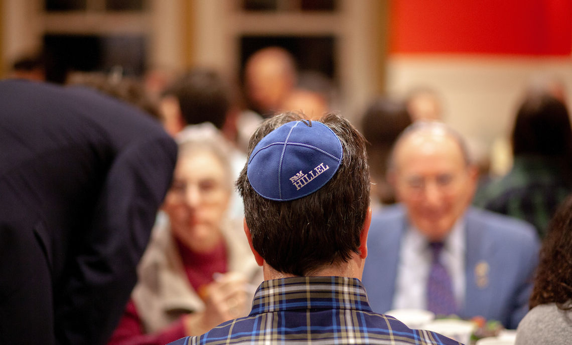 Hillel's annual Shabbat dinner brought F&M families to the table to break bread together.
