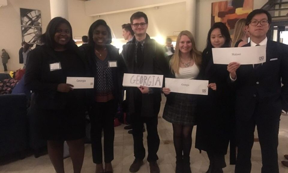 Delegation from Franklin and Marshall College to The University of Pennsylvania Model United Nations Conference.