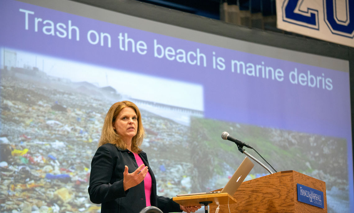 Approximately 8 million metric tons of plastic enters the ocean from land per year, and the majority is discarded as waste, said Kara Lavender Law, Ph.D., research professor of oceanography at Sea Education Association.