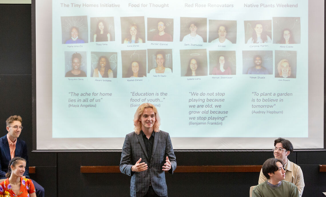 """""""Design thinking is fluid,"""" said Josh Bissett '22, a participant in the Creativity, Innovation and the Future of Work at F&M (CIFOW) summer program."""