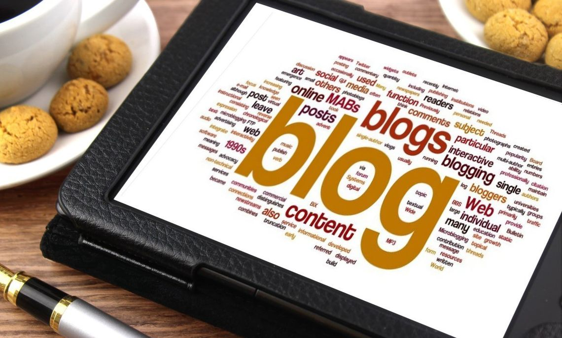 blog-related word cloud