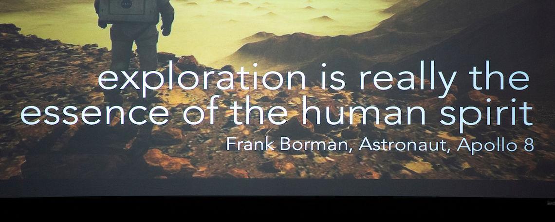 Space Exploration quote from Apollo Astronaut Frank Borman.