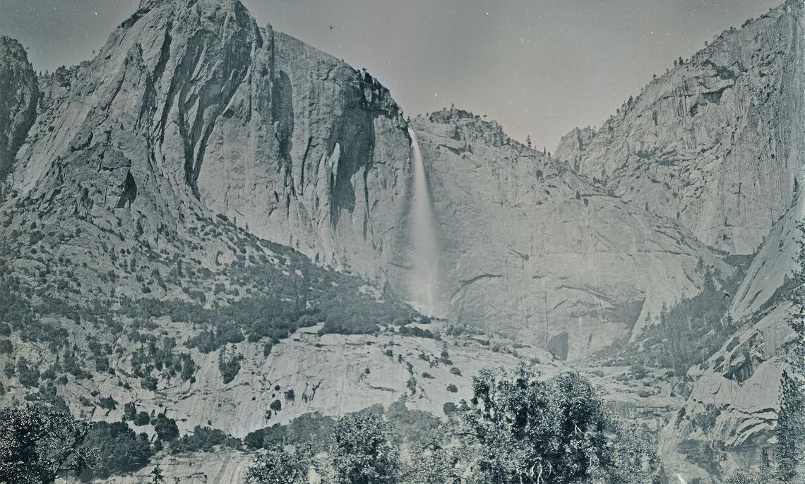 Daguerreotype of Yosemite Falls, CA, taken in 2012 by Binh Danh.