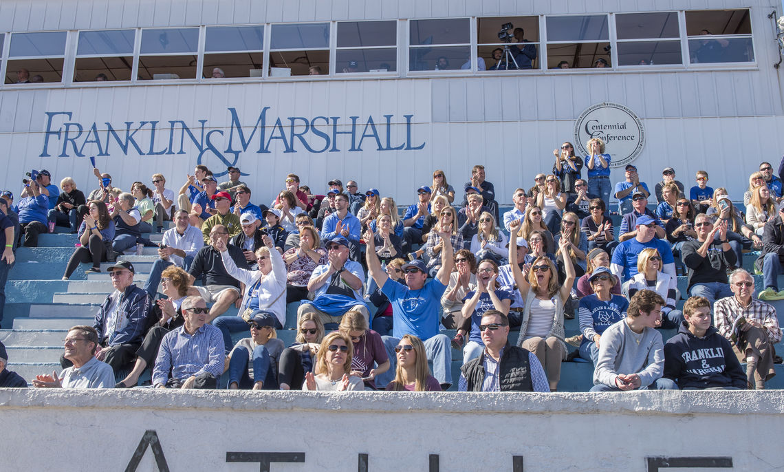 The grandstand was packed for this longtime football rivalry, which dates back to 1904.