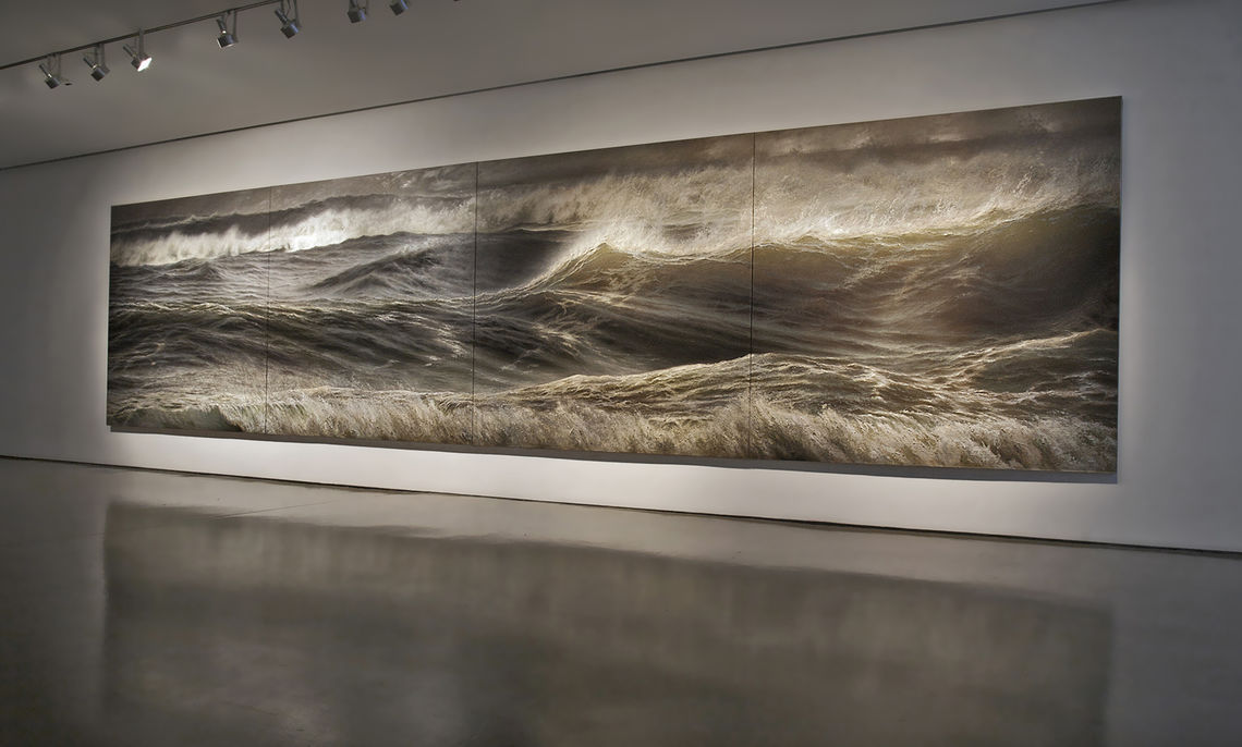 Ortner's Storm No. 1: elements of light and water emote the power of the sea.