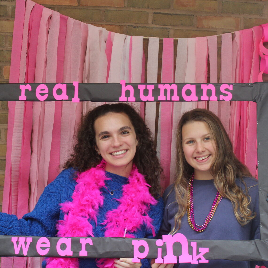 colleges against cancer real humans wear pink photobooth