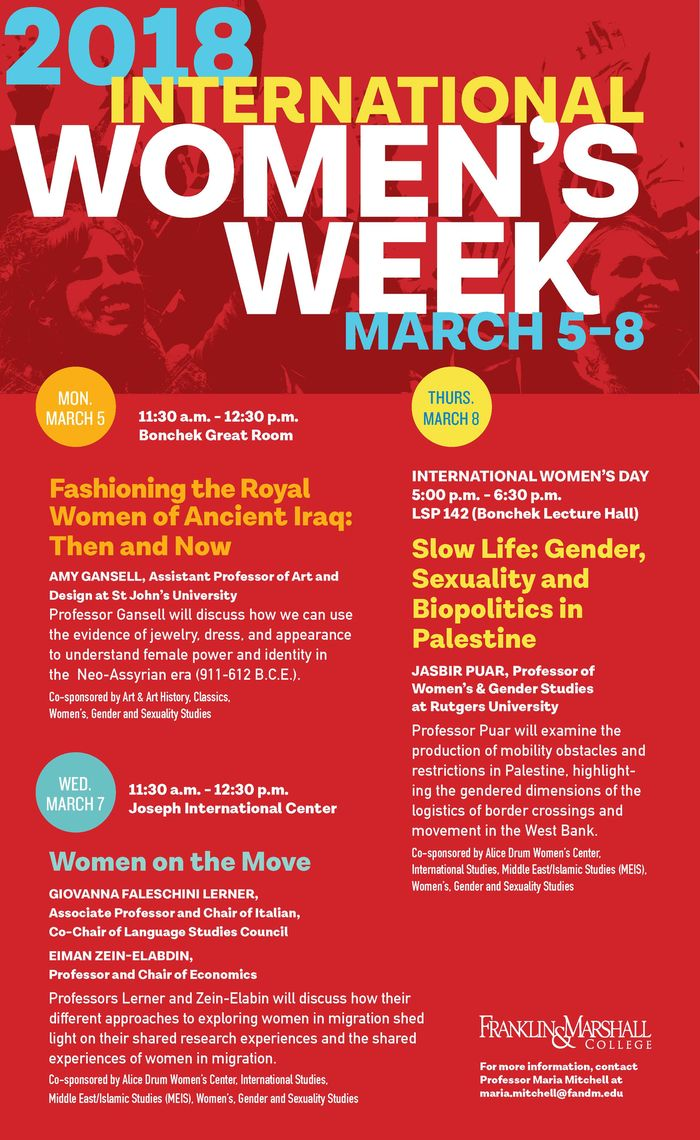 International Women's Week 2018 poster