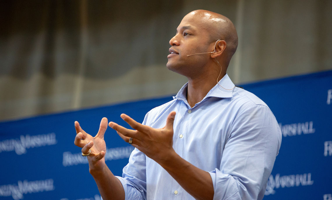 """The most important question you are going to be asked is 'who did you choose to fight for? Who did you choose to stand up for when it wasn't easy?"" Author Wes Moore tells the Common Hour audience."