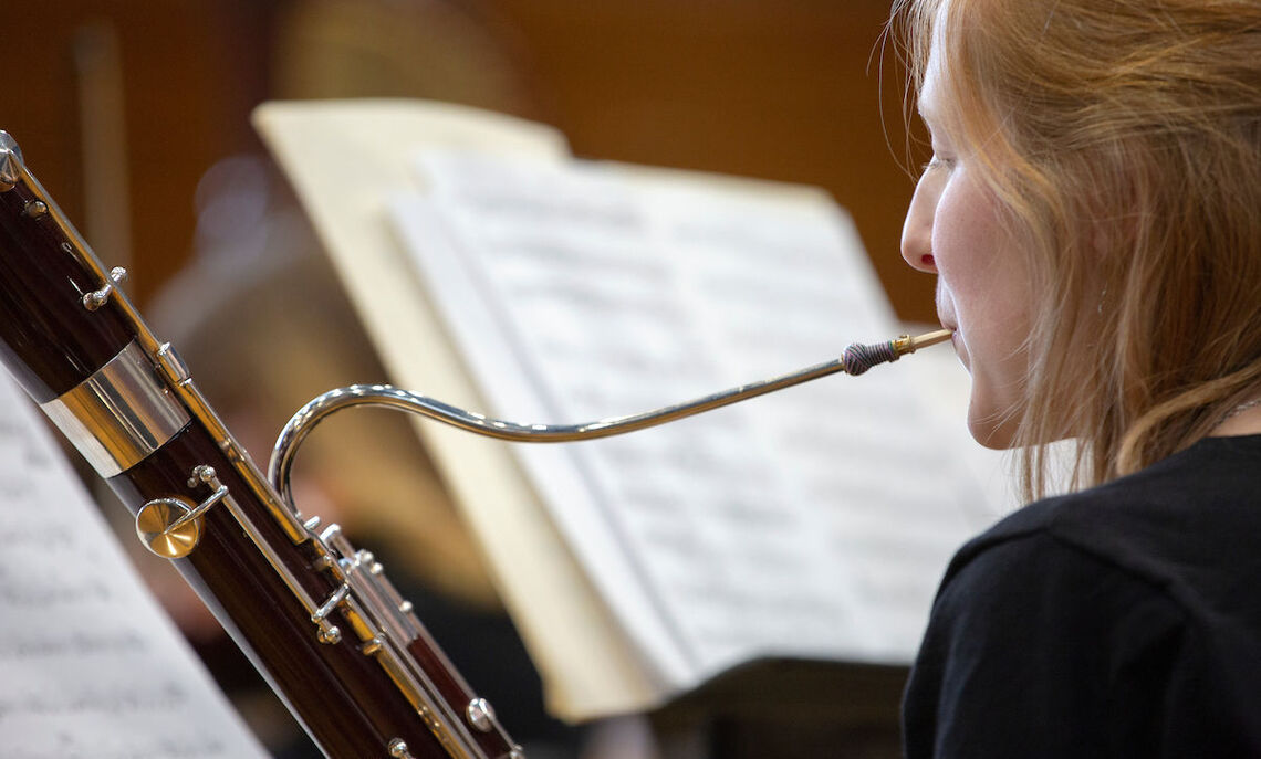 Most students in the orchestra and wind ensemble are not music majors, one of the unique aspects to F&M's music programs.