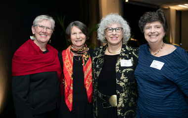 The roomies reunited on campus in October for the College's 50th anniversary gala dinner. They fondly remembered their friend, Marcy Vought, who died in 1988.