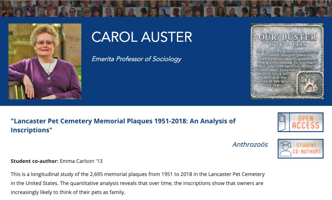 pet cemetery research publication