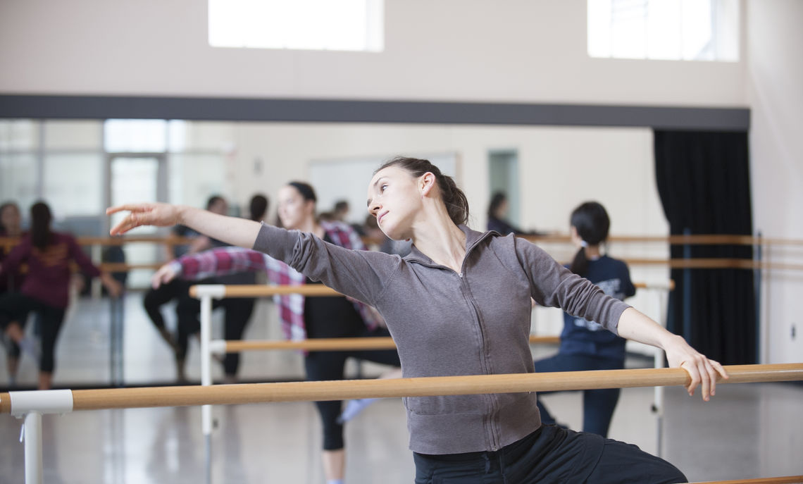 Belinda McGuire, a dancer, director and choreographer who performs through the Belinda McGuire Dance Projects, demonstrates the eloquence of dance.