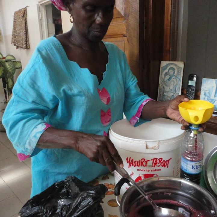 learning to make bissap with my homestay mother in Dakar, Senegal