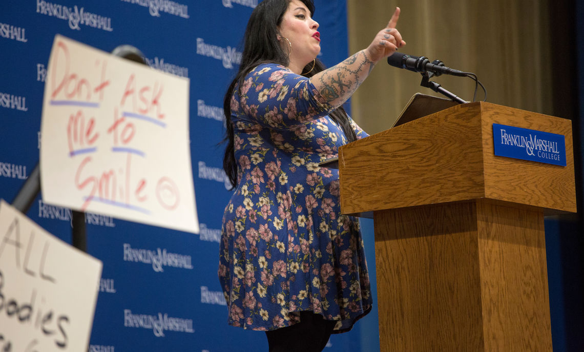 Rachel McKibbens, nine-time National Poetry Slam team member and the author of four collections of poetry, performed at Take Back the Night.