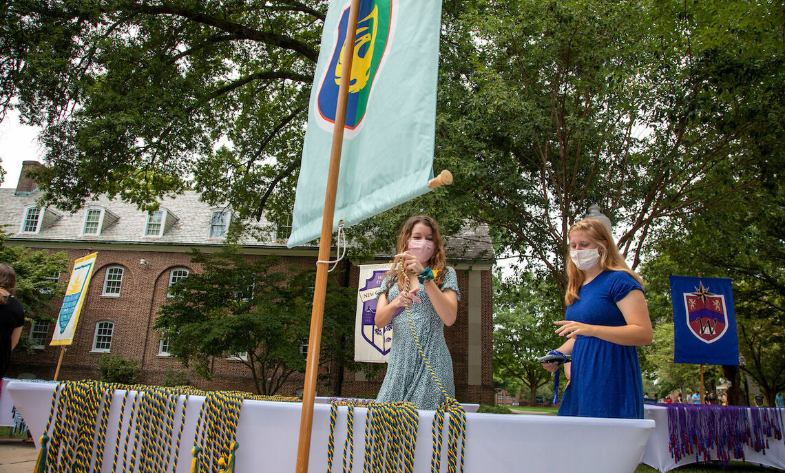 The inaugural Lux et Lex Walk provided first-year students the opportunity to symbolically begin their College journies.