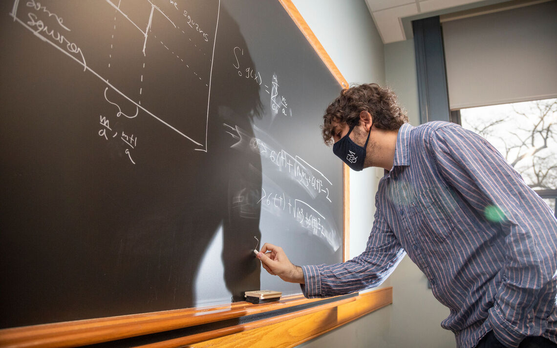 """I liked how the problem combined geometry, number theory and graph theory in a beautiful way,"" said F&M senior Nart Shalqini. The mathematics major plans to pursuit graduate studies in the field."