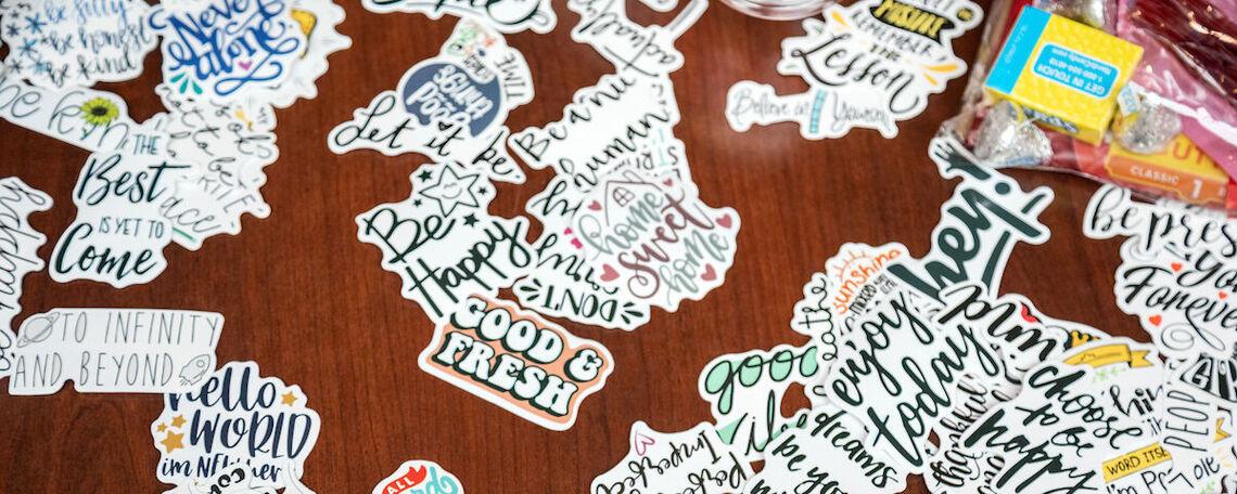Encouraging stickers for seniors