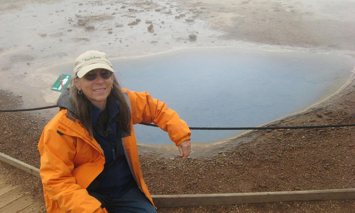 Carol at Geysir Iceland