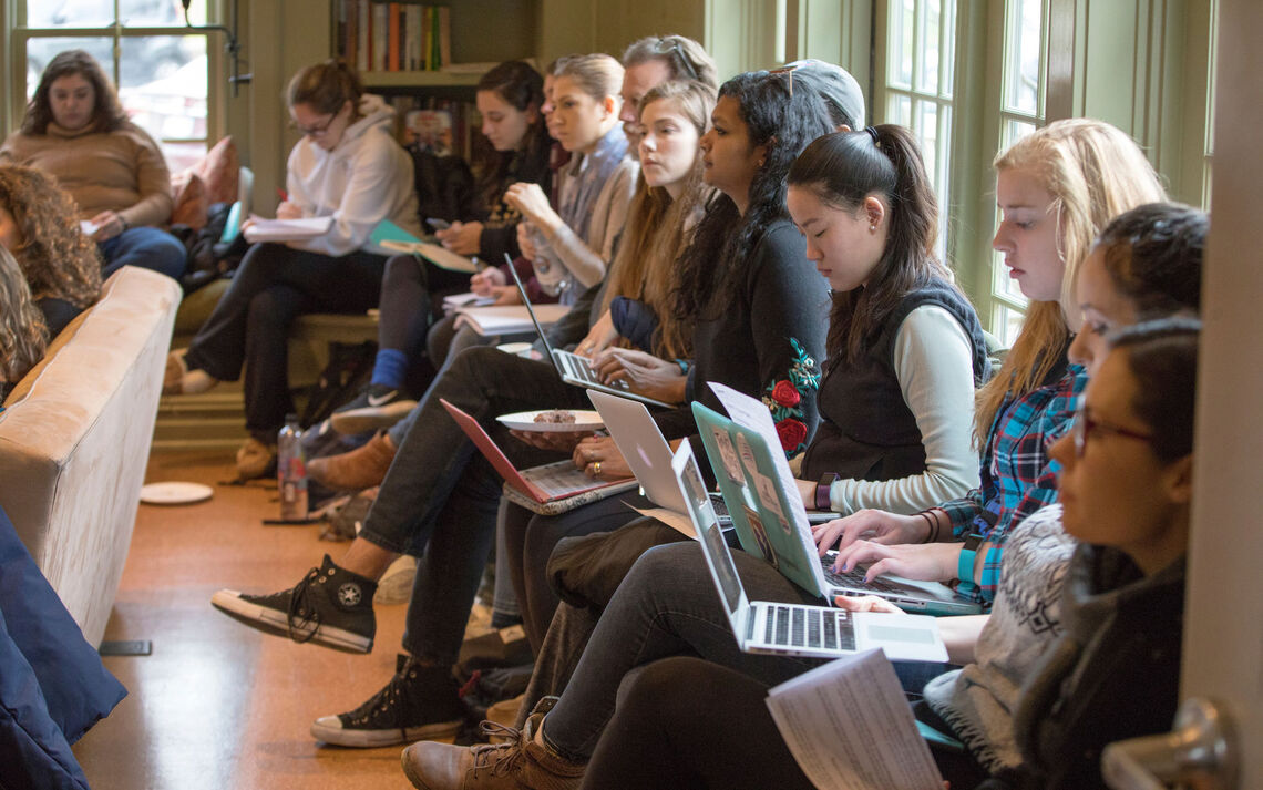 Students attend a session during the 2018 Emerging Writers Festival.