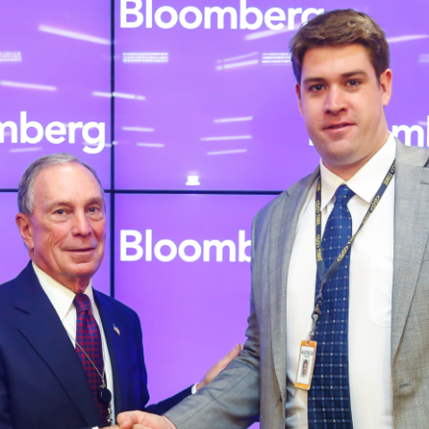 Andrew Woods '10 with Michael Bloomberg