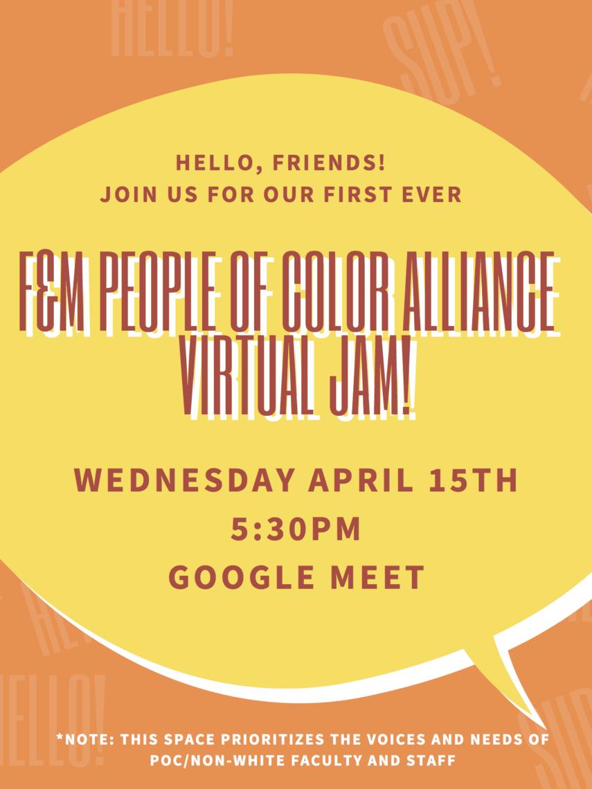 POCA virtual jam april 2020.