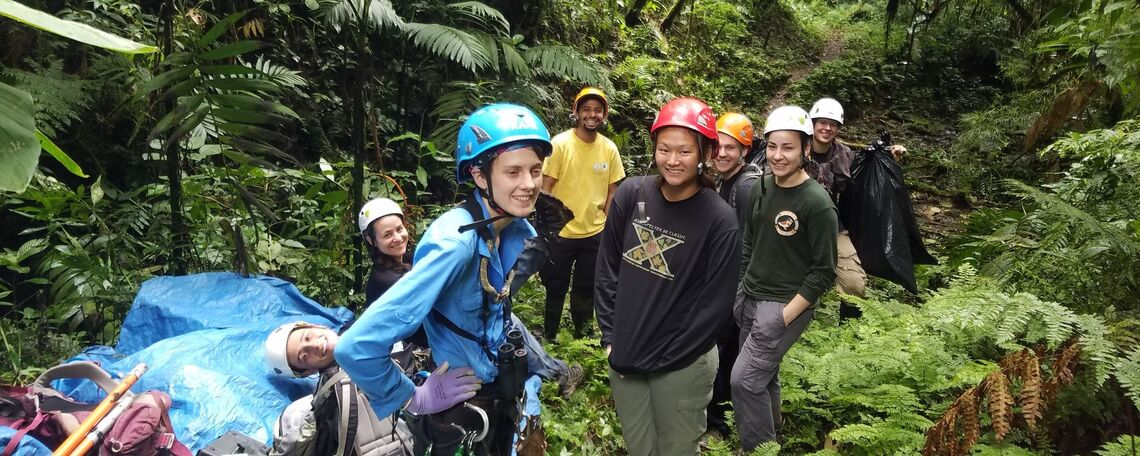 Left to right: Keylor Muñoz (Field Assistant Nov 2015-present, Jess Murray (Field Assistant- Nov 2015-Aug 2016), Autumn Amici (PhD Candidate, U of Utah), Nestor Guevarra (Research Associate, The Monteverde Reserve), Molly Lowell '15 (Field Assistant May-July 2016), Andrew Glunk '15 (Fulbright Scholar and Research Assistant October 2015-August 2016), Sucel Sanchez '17 (Hackman Scholar and Field Assistant May-July 2016), Lex Darby '15 (Field Assistant Nov 2015-Aug 2016).
