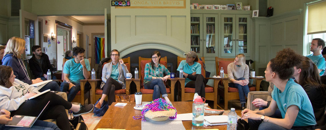 Featured writers Raymond Antrobus (poetry), Tessa Fontaine (nonfiction), Sarah Gerard (fiction and nonfiction), Chinaka Hodge (poetry and playwriting), and Mandy Berman '09 (fiction) partook in a panel discussion during the Emerging Writers Festival.