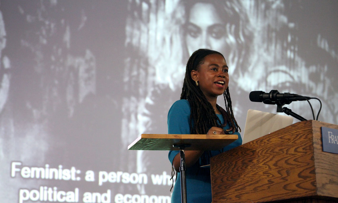 """""""Your vote is your voice. Make it heard,"""" Wilson told students at the March 10 Common Hour."""