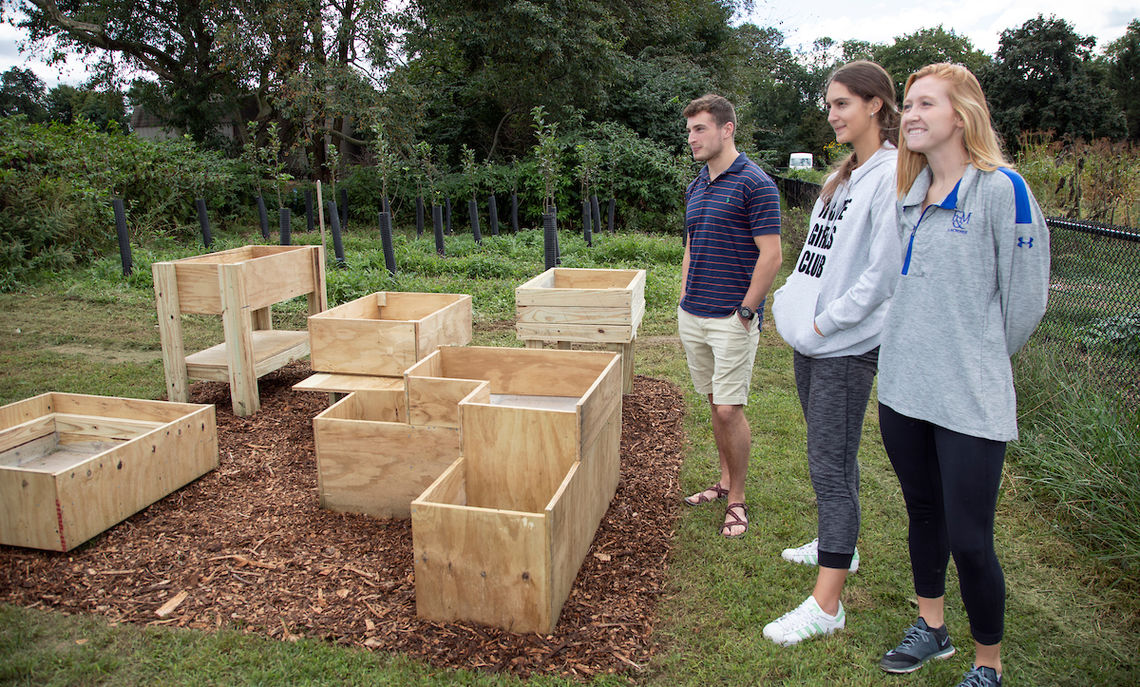 "Associate Professor of Physics Etienne Gagnon says of the garden box projects,  ""We want them to be creative and innovative. We don't want them to have five boxes that are the same shape."""
